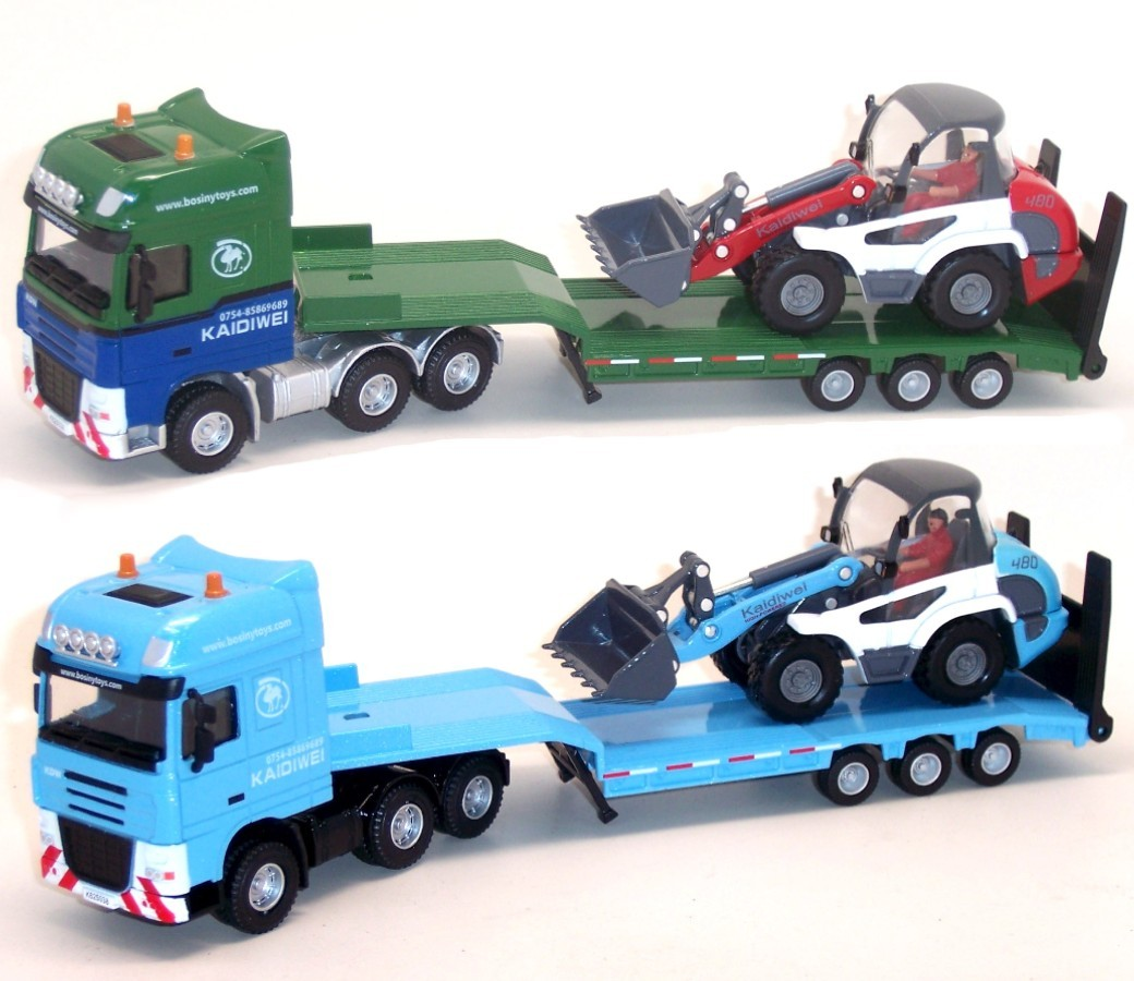 Flat Trailer with Loader1:50 Heavy Die cast Model DC-620038